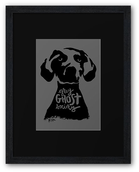 Grey Ghost Society : Framed Print