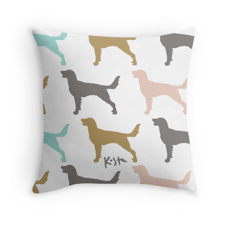 Long Hair Weimaraner Pattern : Throw Pillows