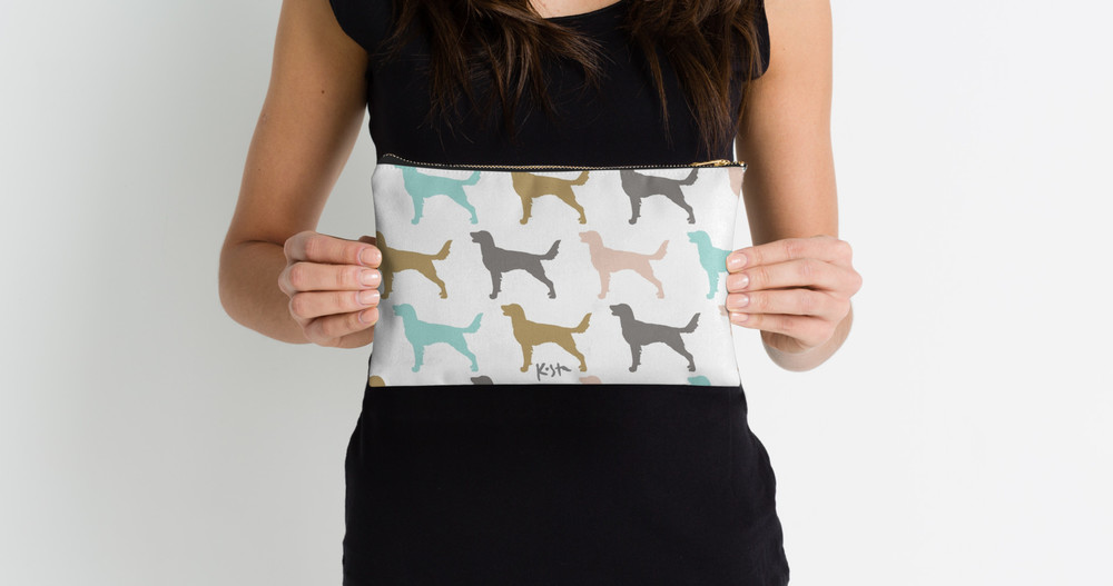 Long Hair Weimaraner Pattern : Studio Pouches