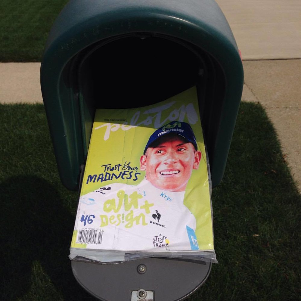 Peloton Magazine #46 Nairo Quintana Subscription Cover - Mailbox!