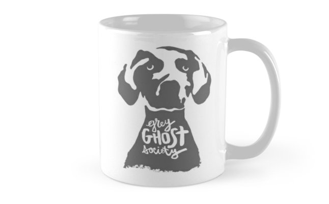 Weimaraner Grey Ghost Society : Coffee Mug - Front, Original Design