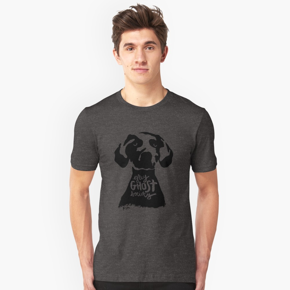 Weimaraner Grey Ghost Society : T-Shirt, Original Design