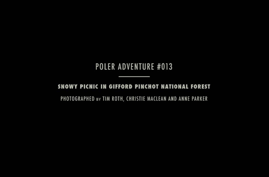 A couple months ago we had an epic day up on a snowy mountain taking photos for Poler with Tim Roth.  Take a look!  -a&c
