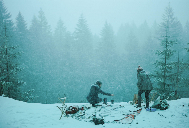 winter picnic for  Poler .   photo by Tim Roth.   -c