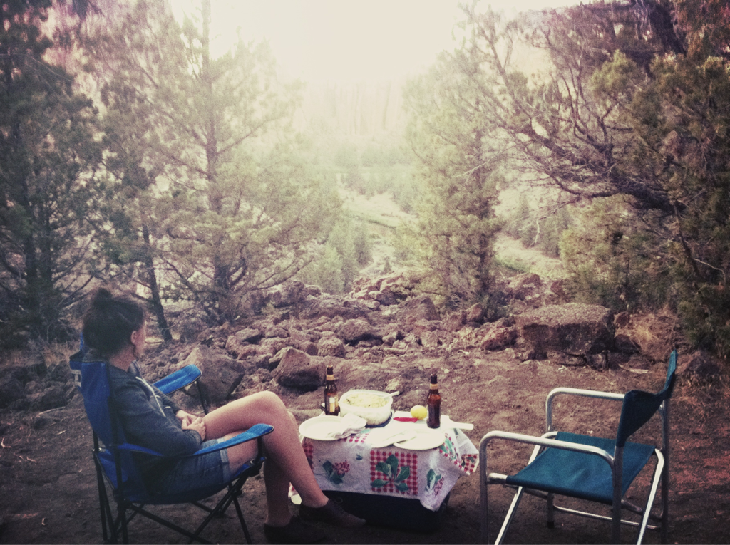 we're camping in the desert this weekend, and it's perfect.   -a&c