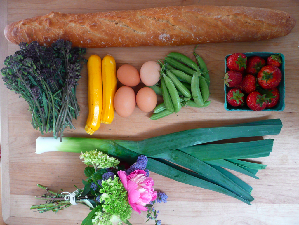 the makings of a birthday brunch, from the eugene farmer's market. -a