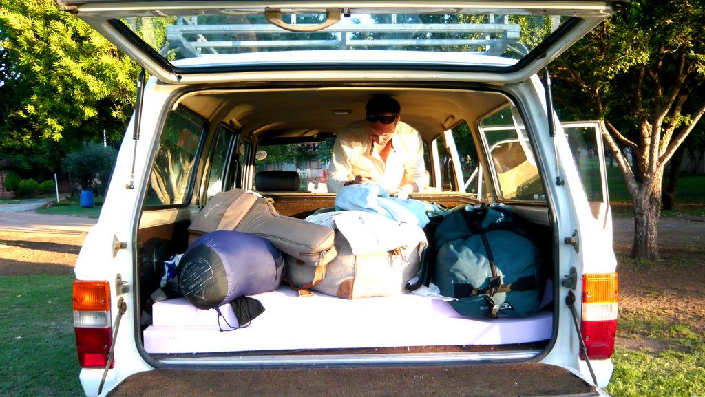 ira glass is talking about road tripping this week on this american life. (listen to the podcast!) there's nothing better to do in the summer than jump in the car with some friends, an atlas, a cooler of food, and some sleeping bags. (via pashasha) -a