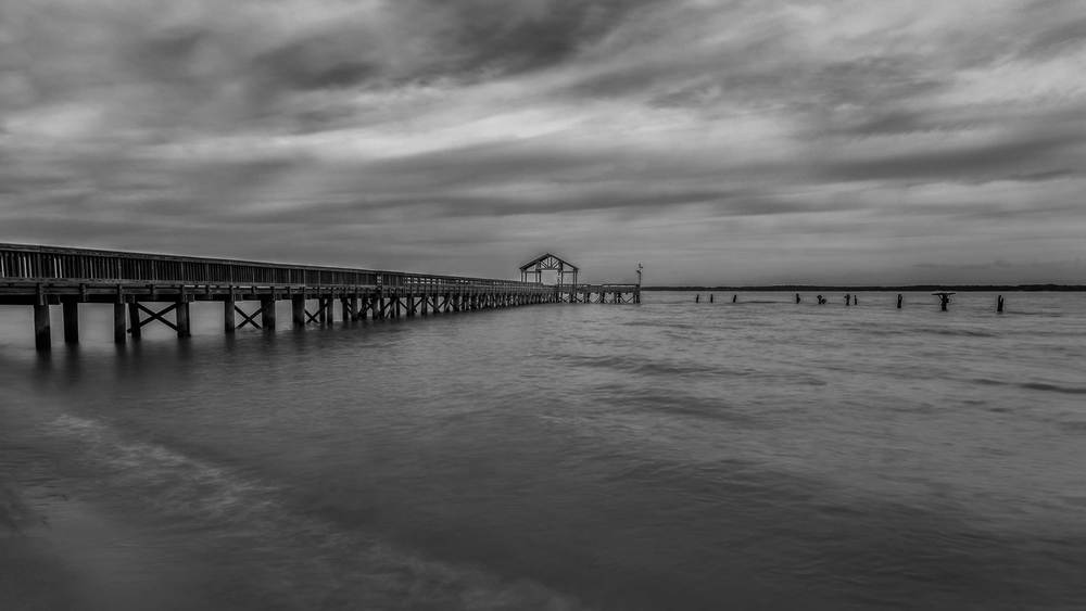 My 10 minute photograph of the fishing pier at Leesylvania State Park