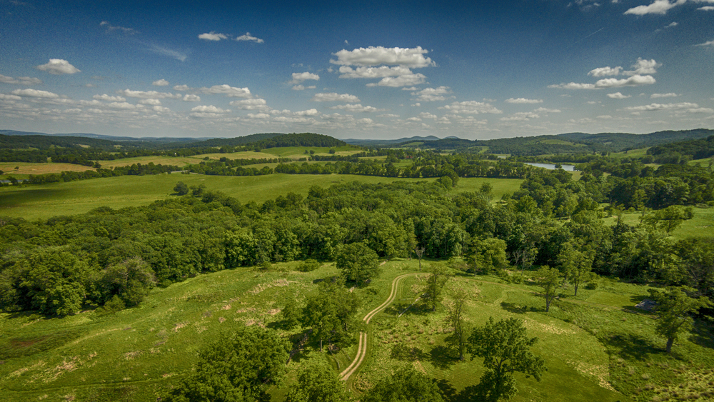 An aerial view of Sky Meadows State Park, taken from my DJI Phantom Vision 2 + copter.