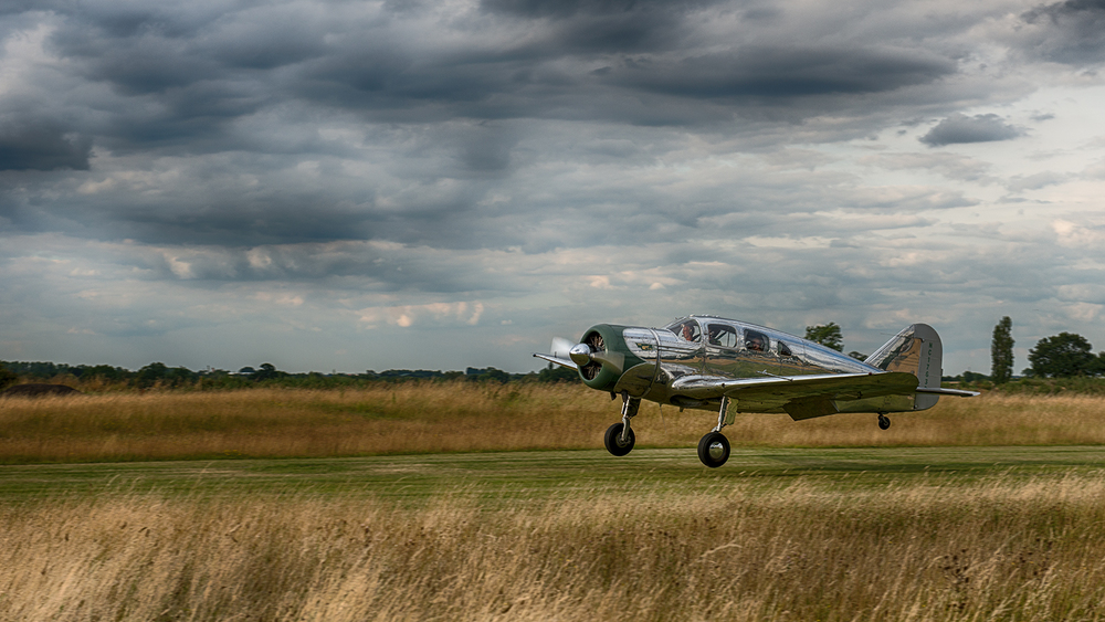 This Spartan Executive is probably my favorite aircraft from the show - but this was taken back at the Little Gransden Airfield. The plane normally resides at the airfield where I'm temporarily living, so I've had two weeks to drool over that polished aluminum finish!