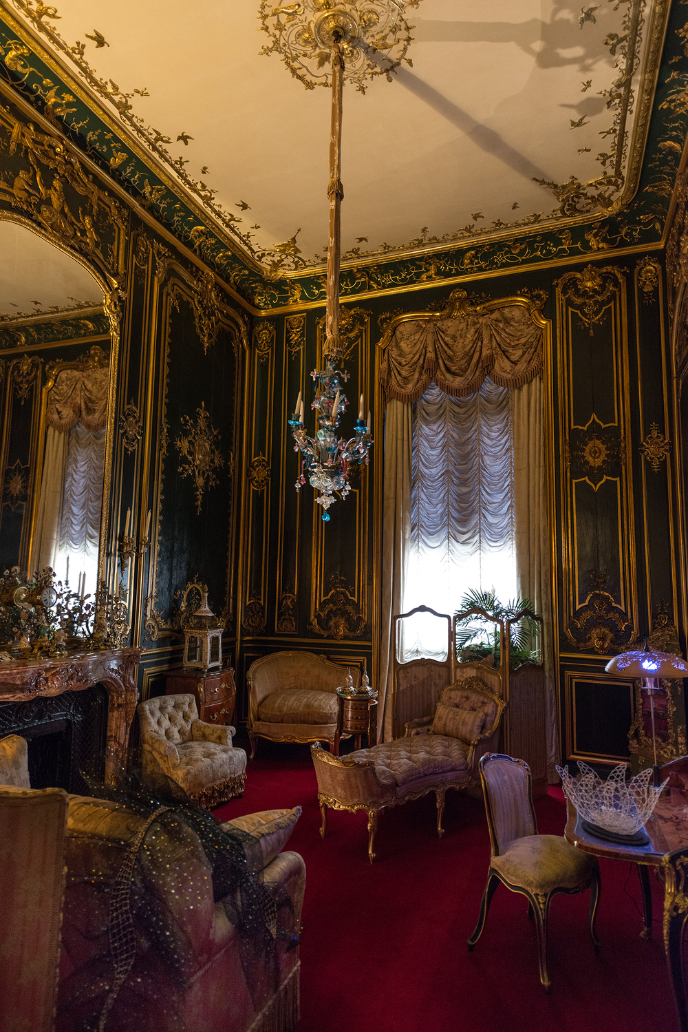One of many opulently decorated rooms inside the estate. The property was recently handed over to the National Trust, which now organizes tours of the home.