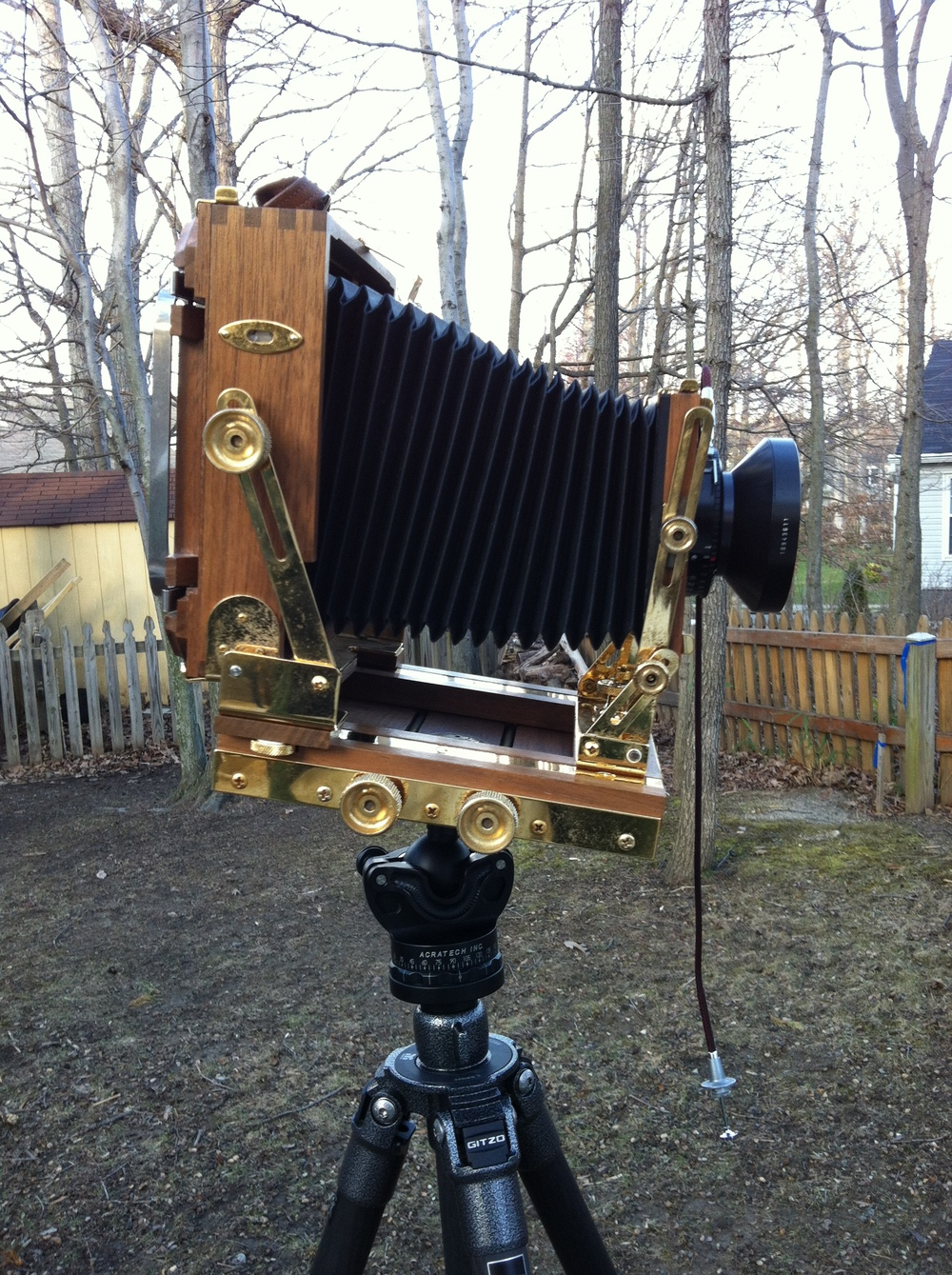 My large format Zone VI camera accepts 4x5 inch sheet film