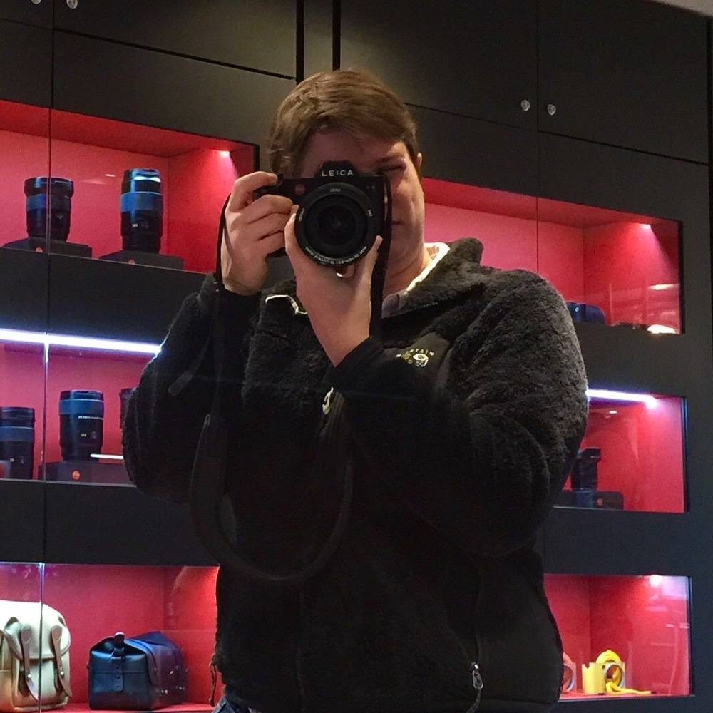 Shooting the Leica SL in the Mayfair showroom. You can get a sense for the ergonomics with the 24-70mm lens mounted on front.