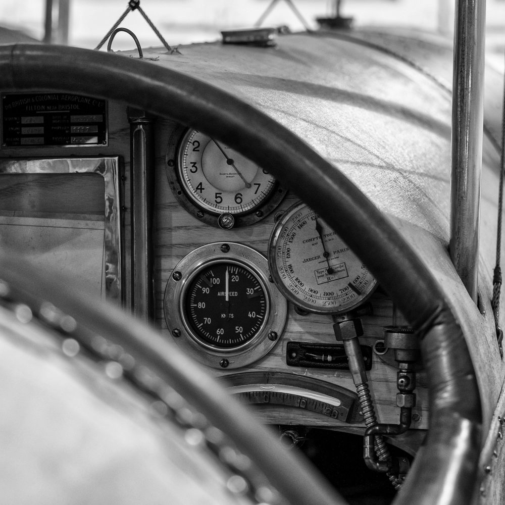 Bristol Scout C cockpit