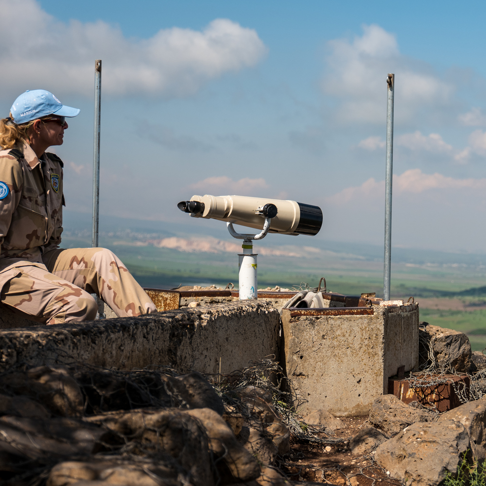 You don't take a fragile kids toy of a camera to the edge of a war zone. You take a camera like the Leica SL. UN observer outpost in the Golan Heights (Syria is in the background).