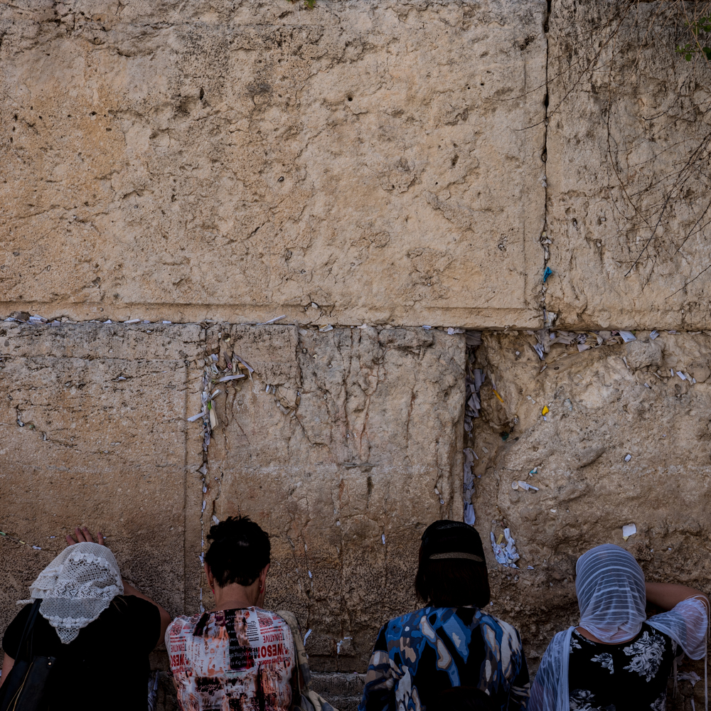 Women praying at the Western Wall (aka the Wailing Wall) in Jerusalem. Click this image to make it full screen, then marvel at all the detail and sharpness captured by the Leica SL.