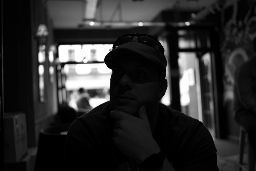 I intentionally underexposed this photograph of  my husband  by several stops to see how much I could recover before I introduced noise...... see below. Leica MM with Leica 35mm Summarit ASPH