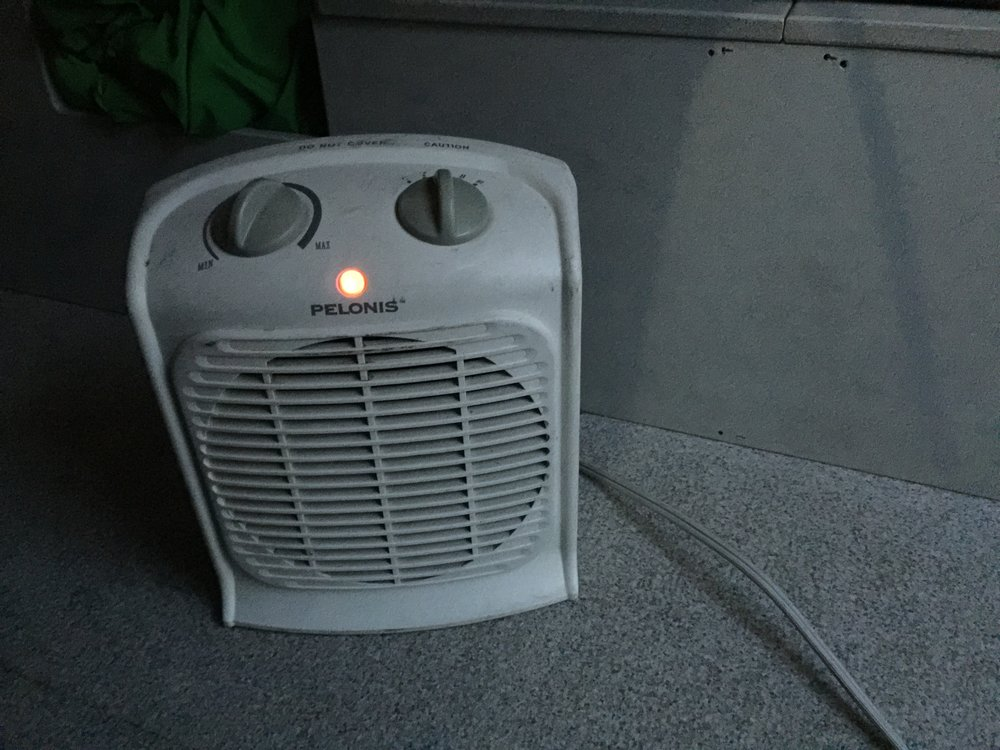 The all important (at least in winter) space heater. Provided by Escape