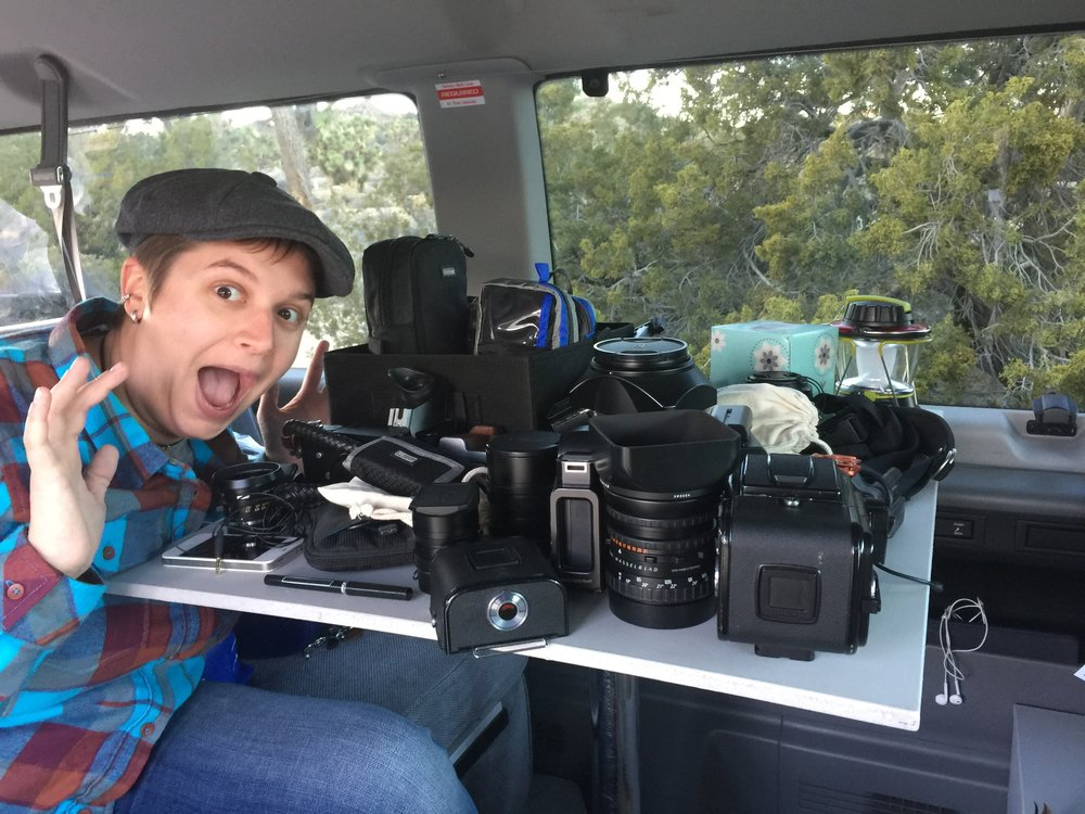 This is why I had to get organized - thats all my camera gear for the trip!