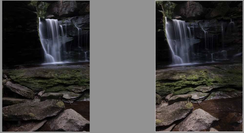 Two images showing a big change in the lighting as I shot the panorama