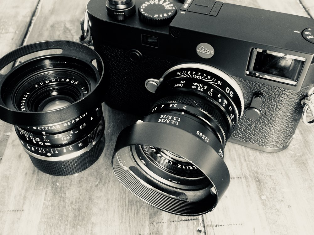 Leica M10 with 50mm and 35mm Summicron lenses, Made in Canada
