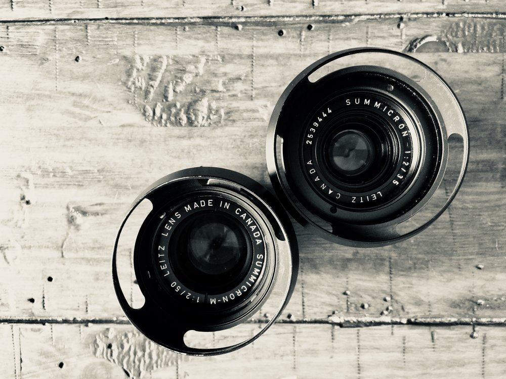 Two beautiful Made in Canada lenses with ventilated lens hoods