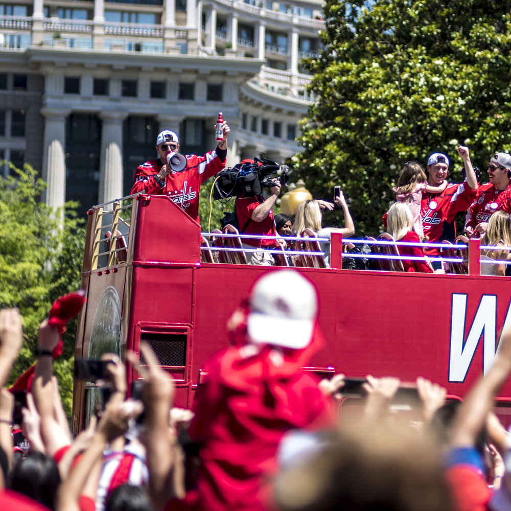 Caps players salute the crowds