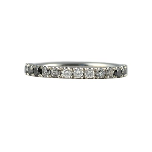 stackable anniversary band white gold handmade eternity diamond black bands carat wedding