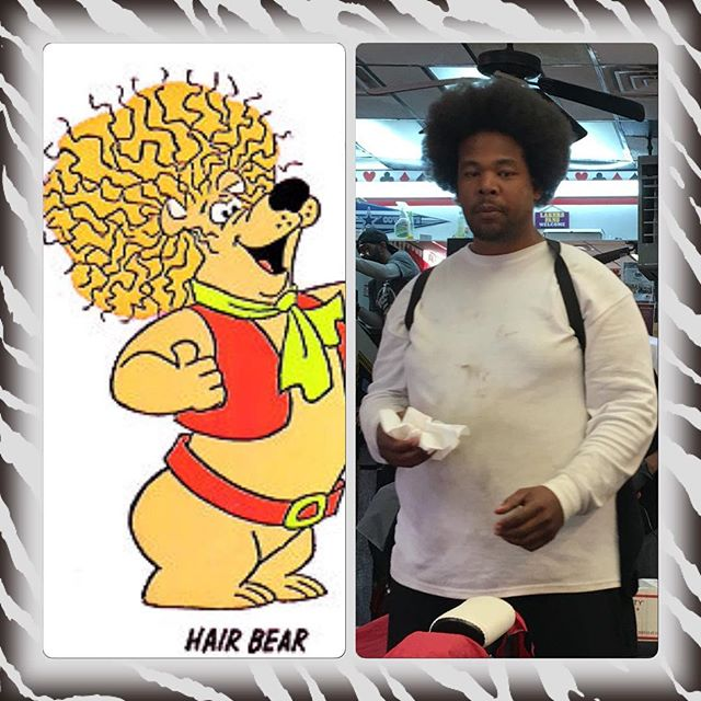 @onlysour is too young to know who Hair Bear is, but they say everyone has a twin out there somewhere!! #onlyfamilycanplaylikethis