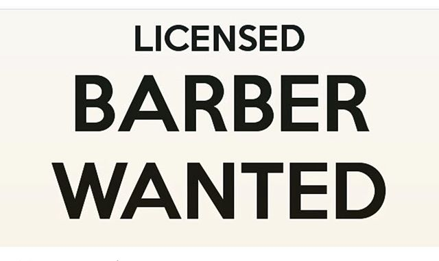If you are a barber LICENSED in CONNECTICUT looking to WORK and NOT sit around please contact us....