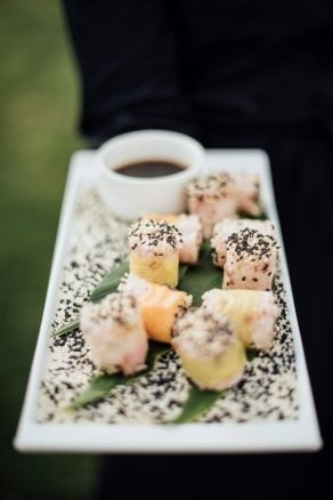 Sushi Rice Poppers Photo by  Rebecca Anne Photography