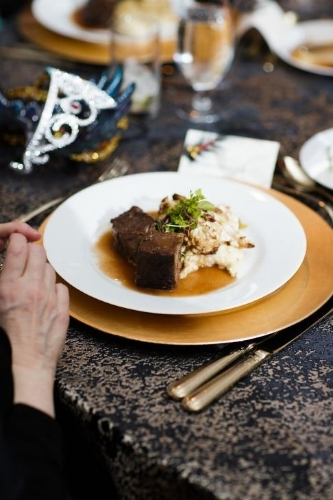 Bourbon Braised Short Ribs Photo by  David Cho Photography