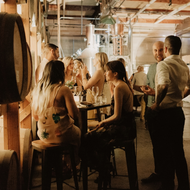Distillers Cocktail Hour - Enjoy an evening of rich flavors with Table Catering Co and a one-hour private tasting of spirits with one of OOLA's distillers. The bar will feature our in-house premium cocktail menu.