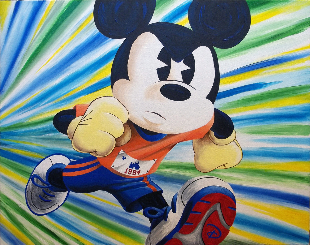 """runDisney: Determination"" (2013)  Acrylic  24x36"