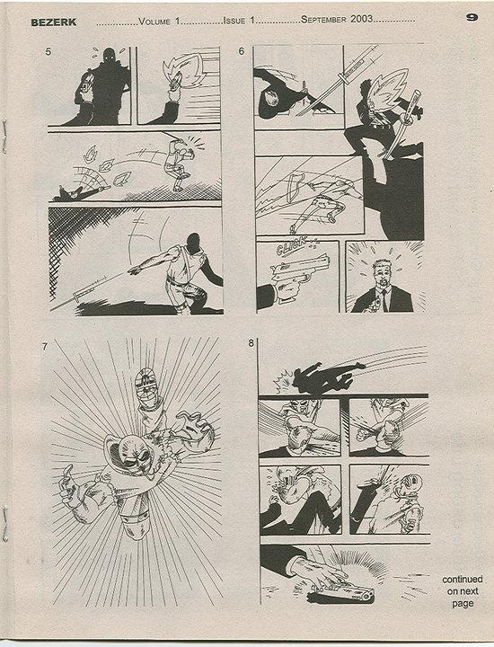 BEZERK Comics Magazine Vol 1 Issue 1 Page 9 (2003)