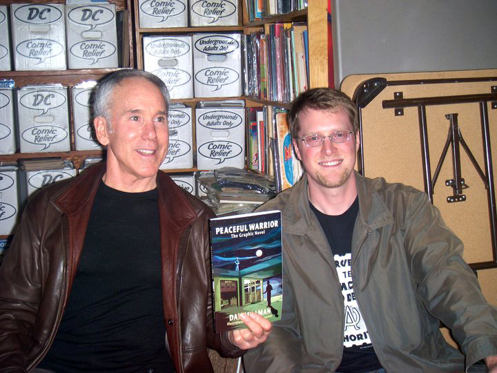 Book signing with Dan Millman at Comic Relief, Nov 10, 2010 Berkeley, CA
