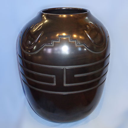 Black Traditional Storage Jar