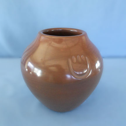 Bear Paw Design Brown Jar