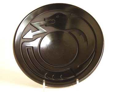 Black Avanyu design Plate