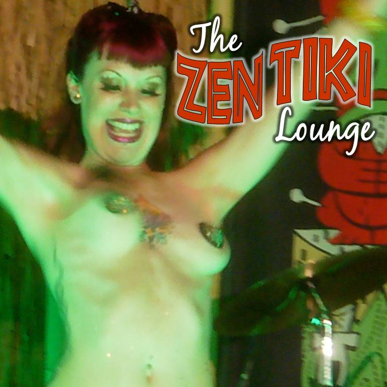 Burlesque dancer at Tiki Oasis