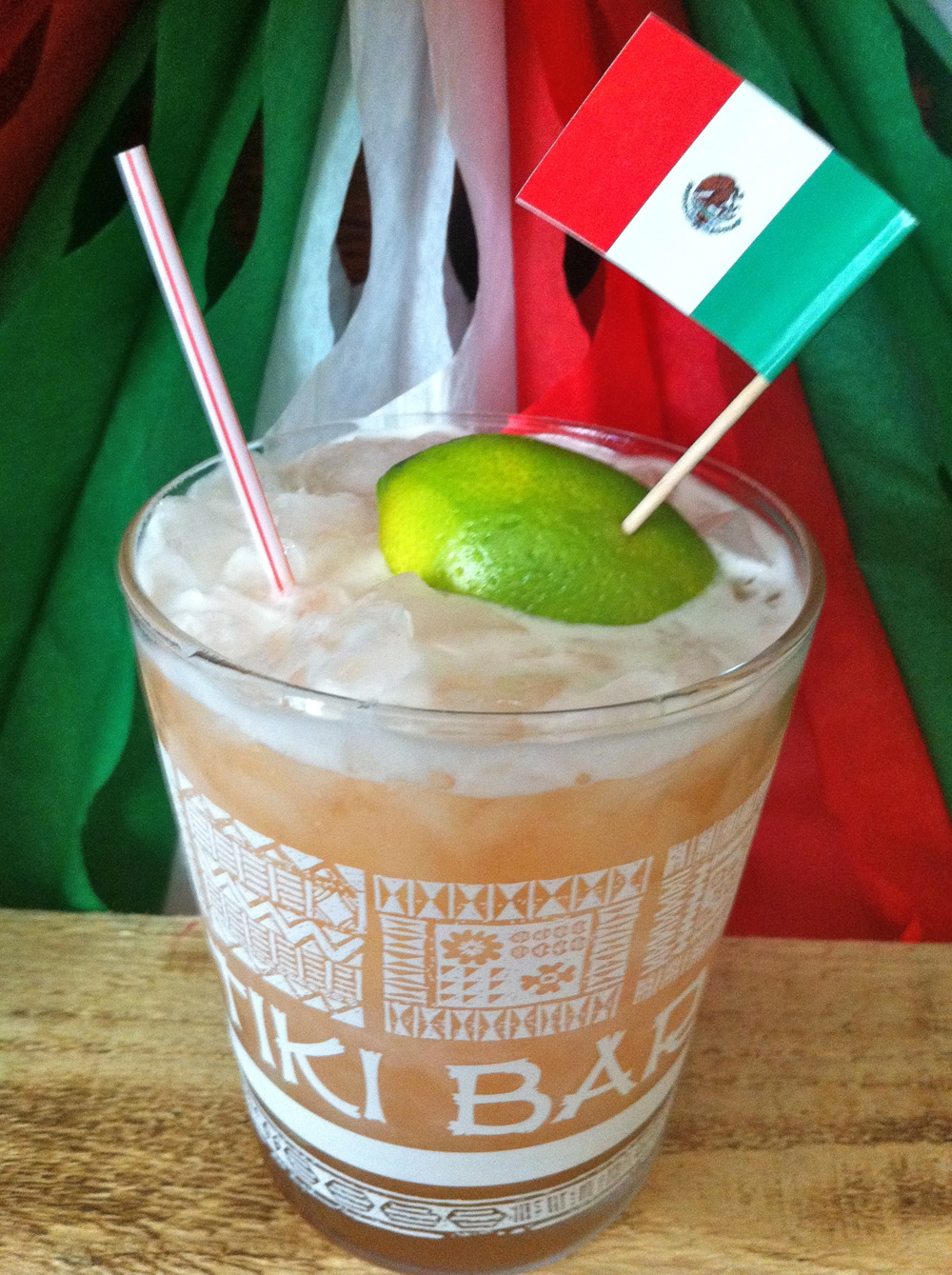 Mix up Baja Aloha to impress your friends.  Rum or Tequila, it's in here.