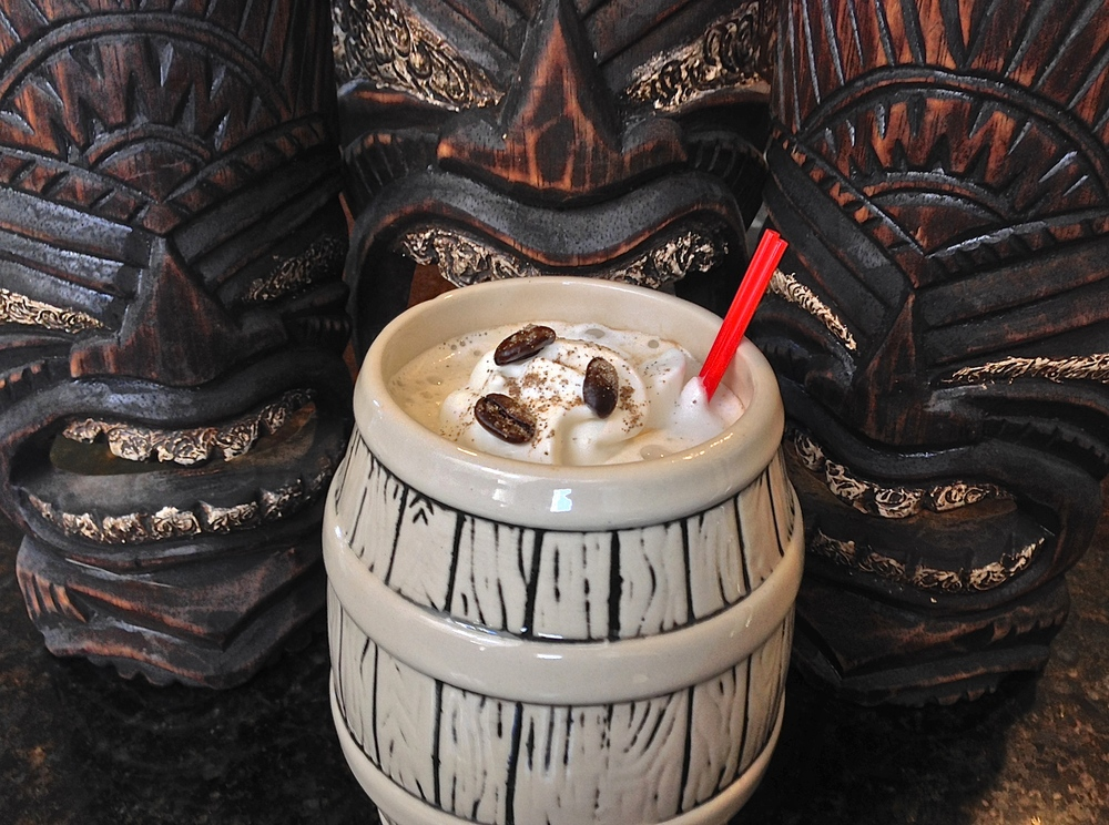 Demerara, Jamaican, Cardamom, Brown Sugar and Kahlua come together for a tantalizing coffee grog.