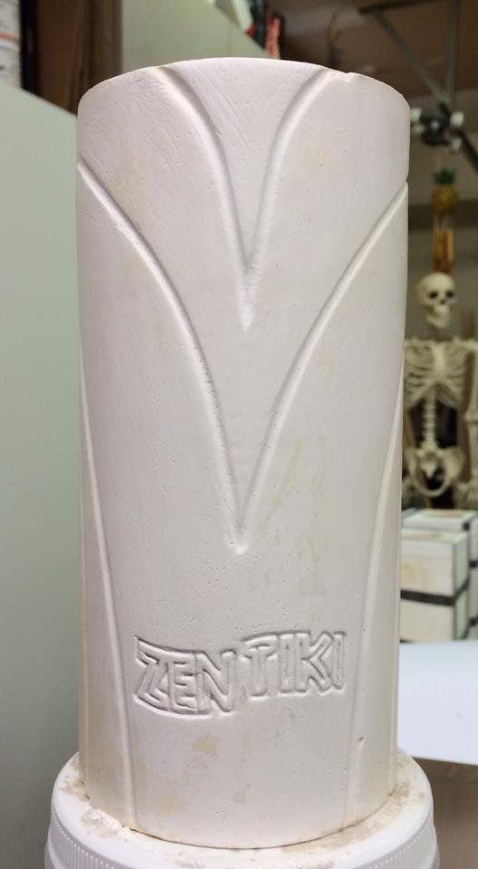 From the workshop of PopTiki of Colorado: First look at a new tiki mug for the Zen Tiki Lounge.