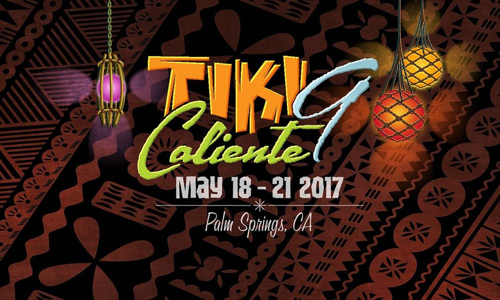 Tiki Caliente 9 is fast approaching.  The event is known to be intimate and is currently sold out.  Both rooms and wristbands are no longer available.  But, if you are in the Palm Springs area over the same weekend, the tiki marketplace from 11am to 6pm is open to the general public.  Find that Hawaiian shirt, dress or accessory you have been looking for.  Great art and pop culture are also plentiful at the marketplace.