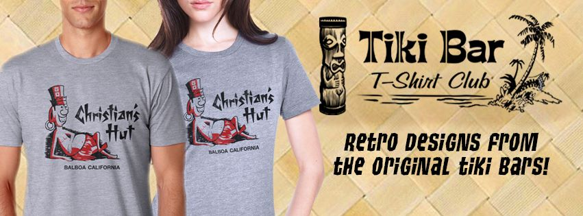 All of us here at the Zen Tiki Lounge podcast recommend  Tiki Bar T-Shirt Club .  Every month a new soft cotton T will be delivered right to your mailbox.  Buy a single T or get a 3, 6 or 12 month subscription.