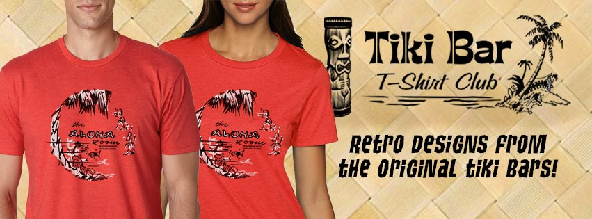 We love  Tiki Bar T-Shirt Club . Soft cotton t's with a new tiki bar design each and every month. Delivered right to your door. Get a single shirt or subscribe and get them all each month delivered right to your door.