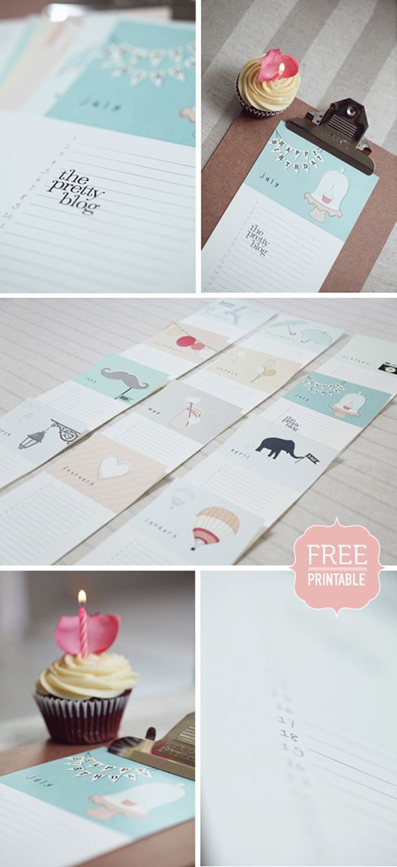 Birthday Calendar Diy : Birthday calendar free printable — elephantshoe
