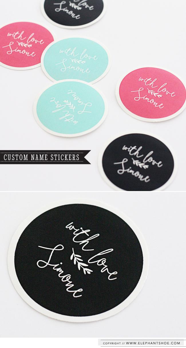 Personalised elephantshoe Stickers