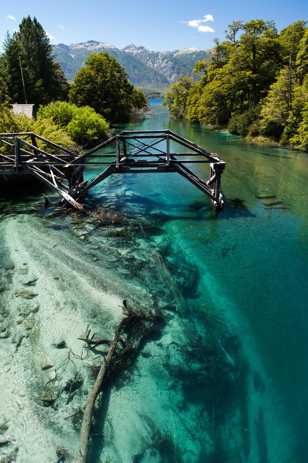 Broken Bridge - Bariloche, Argentina.
