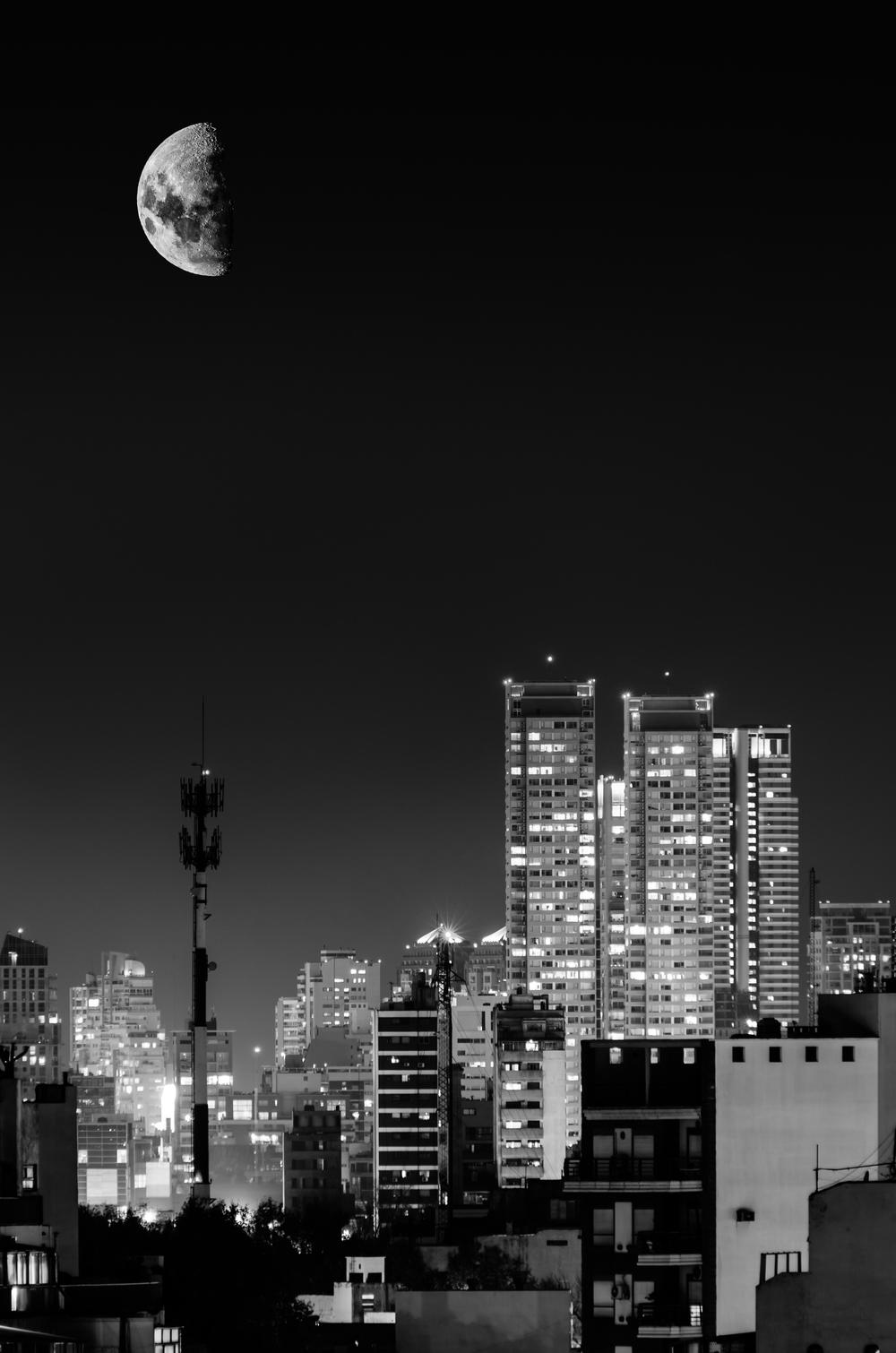 Half moon - Buenos Aires, Argentina.
